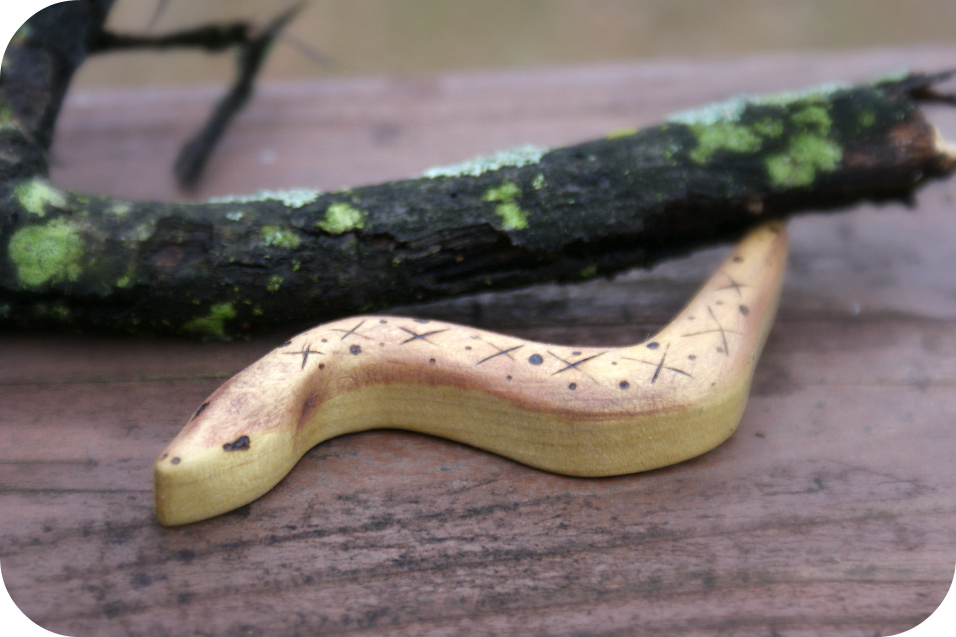 wooden twig snake